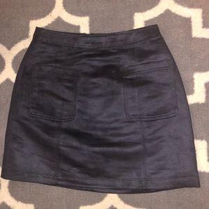 Old Navy Suede black skirt